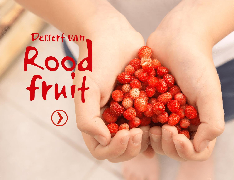 Dessert van rood fruit