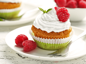 Frambozen Cupcake